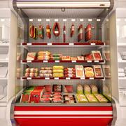 冷藏展示柜肉 3d model