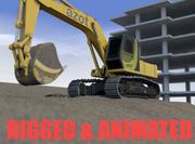 Cena de escavadeira 3d model
