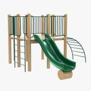 outdoor kid play recreation equipment 3d model