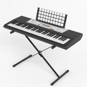 Electronic piano keyboard on stand 3d model