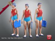 游泳女性ACC 2130 001 3d model