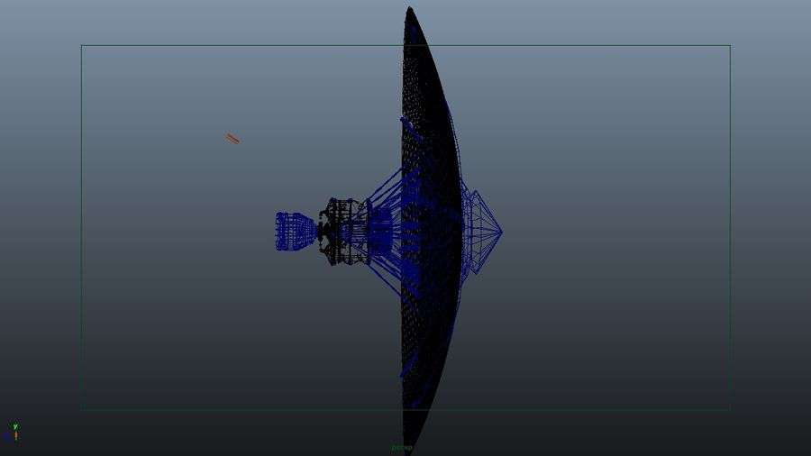 Modelo de Satélite royalty-free 3d model - Preview no. 3