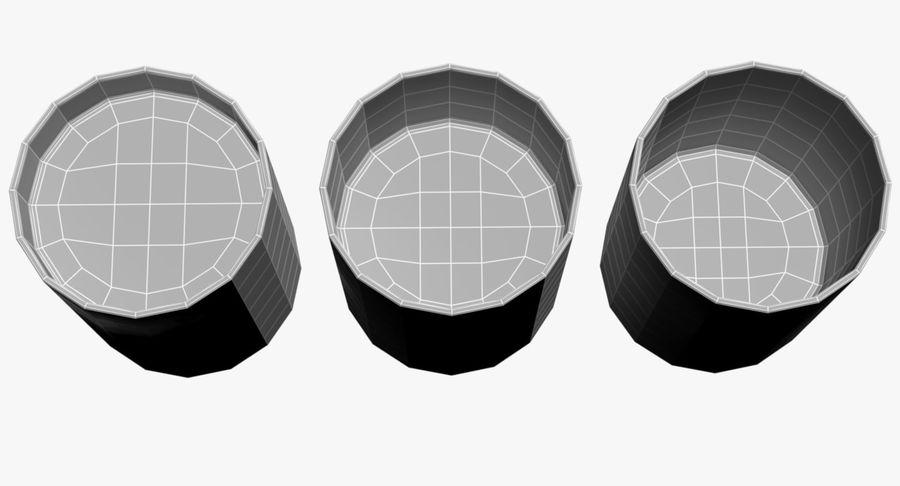 Bicchieri Con Liquidi Trasparenti royalty-free 3d model - Preview no. 8