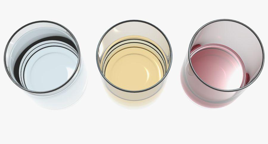 Bicchieri Con Liquidi Trasparenti royalty-free 3d model - Preview no. 3