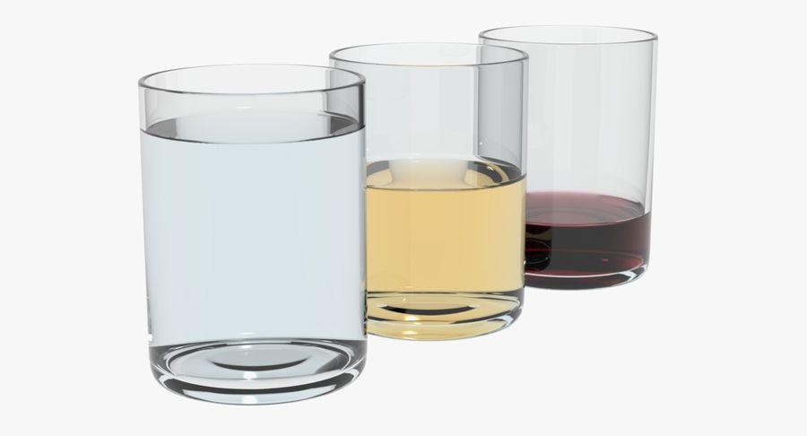 Bicchieri Con Liquidi Trasparenti royalty-free 3d model - Preview no. 6