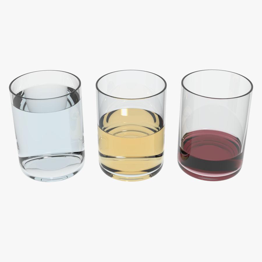Bicchieri Con Liquidi Trasparenti royalty-free 3d model - Preview no. 1