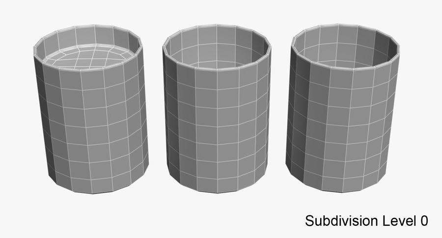 Bicchieri Con Liquidi Trasparenti royalty-free 3d model - Preview no. 11