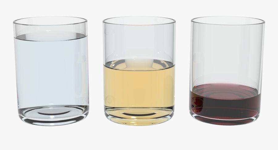 Bicchieri Con Liquidi Trasparenti royalty-free 3d model - Preview no. 5