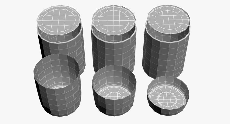 Bicchieri Con Liquidi Trasparenti royalty-free 3d model - Preview no. 10