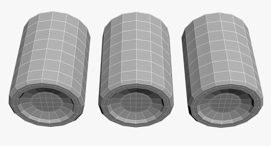 Bicchieri Con Liquidi Trasparenti royalty-free 3d model - Preview no. 9