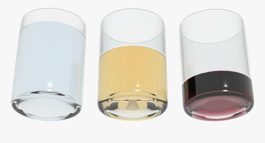 Bicchieri Con Liquidi Trasparenti royalty-free 3d model - Preview no. 4