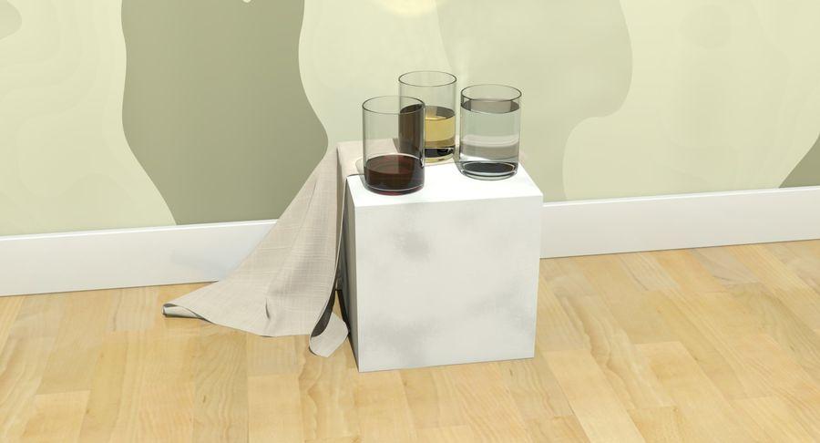 Bicchieri Con Liquidi Trasparenti royalty-free 3d model - Preview no. 14