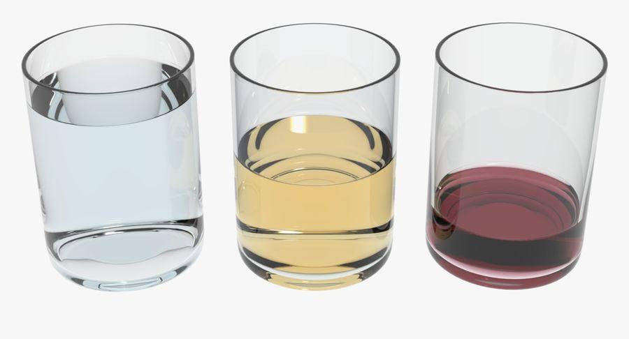 Bicchieri Con Liquidi Trasparenti royalty-free 3d model - Preview no. 2