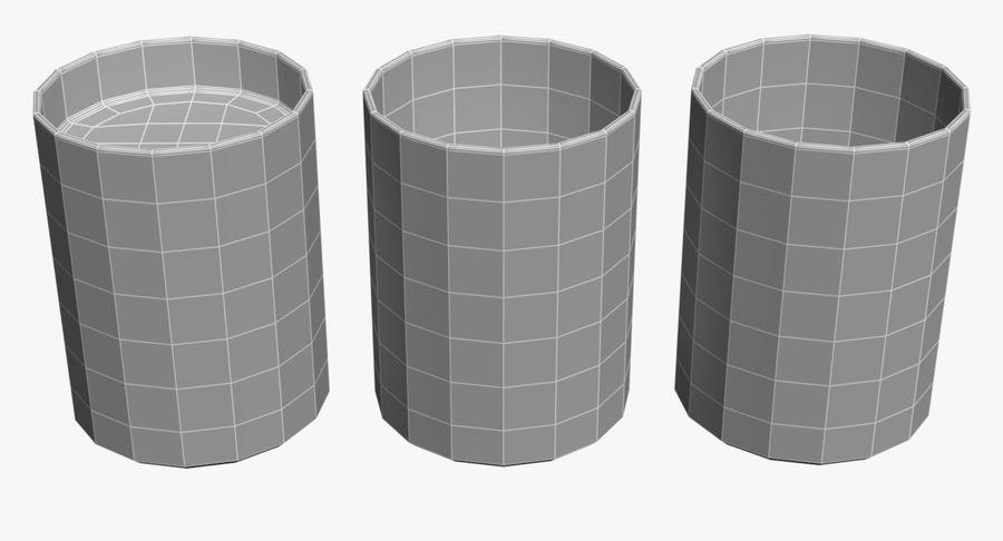 Bicchieri Con Liquidi Trasparenti royalty-free 3d model - Preview no. 7