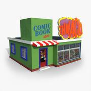 Cartoony Comic Store 3d model