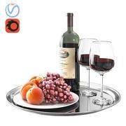 Rode wijn 3d model