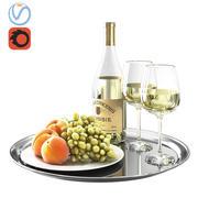 Witte wijn 3d model