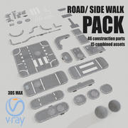 Road Asset Pack collection 3d model