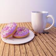 Donuts-Szene 3d model