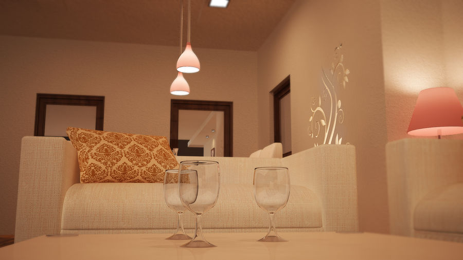 MODERN INTERIEUR royalty-free 3d model - Preview no. 3