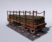 철도 수레 3d model