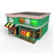 卡通体育商店 3d model