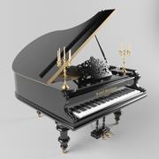 пиано 3d model