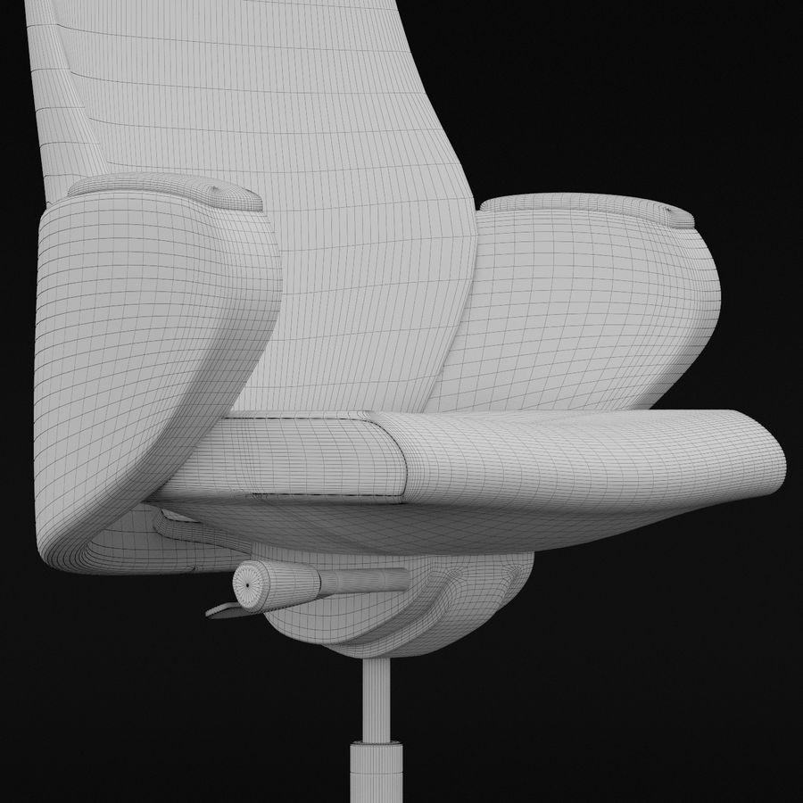 现代皮革办公椅 royalty-free 3d model - Preview no. 8