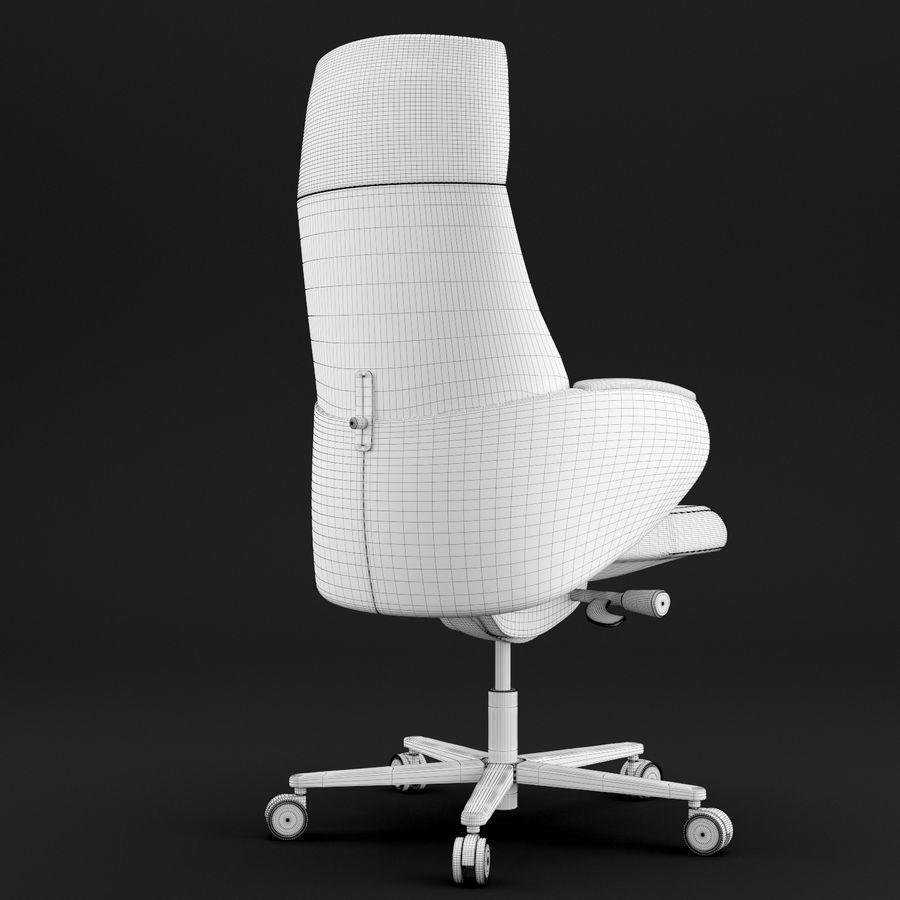 现代皮革办公椅 royalty-free 3d model - Preview no. 10
