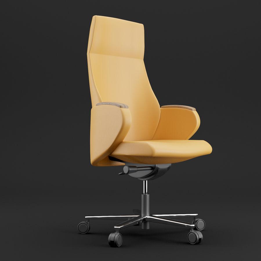 现代皮革办公椅 royalty-free 3d model - Preview no. 1