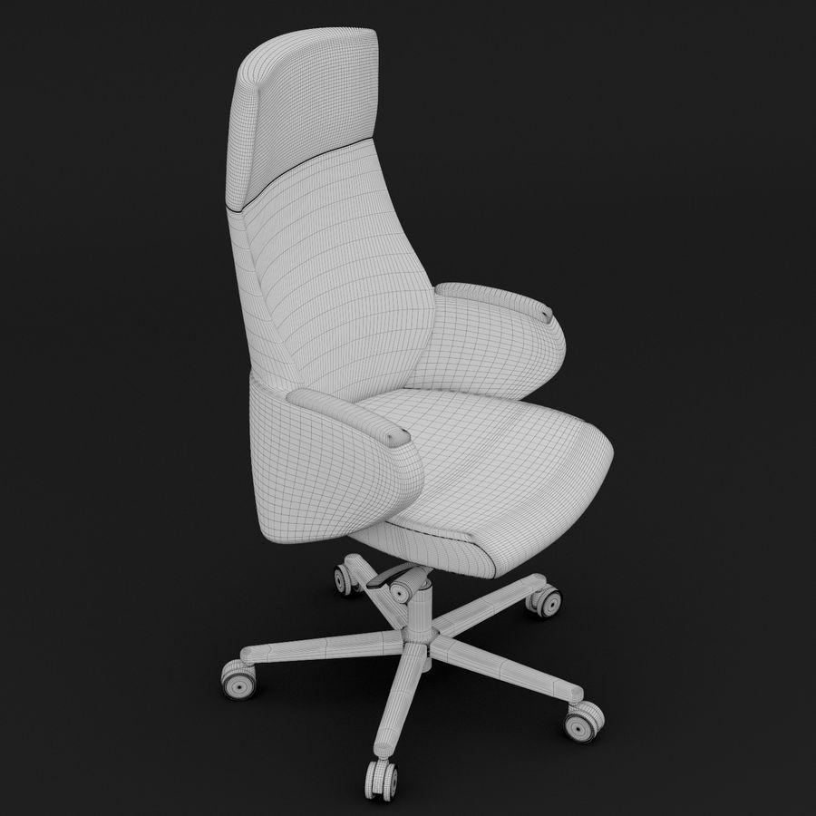 现代皮革办公椅 royalty-free 3d model - Preview no. 4