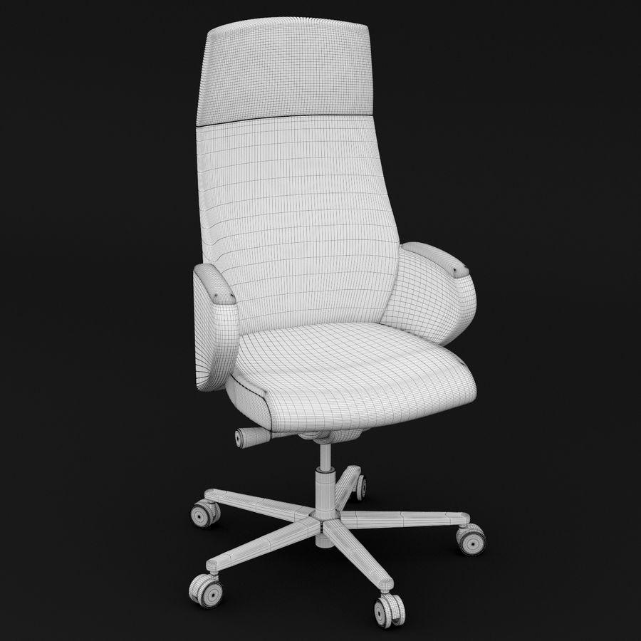 现代皮革办公椅 royalty-free 3d model - Preview no. 6