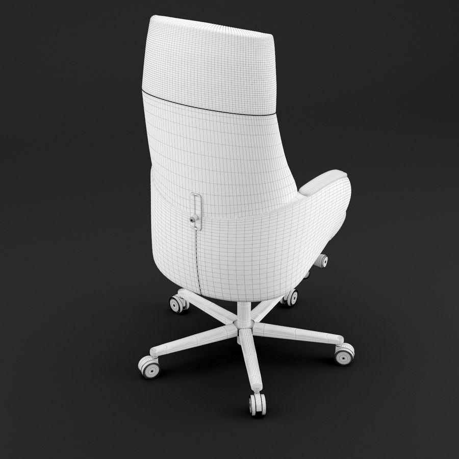 现代皮革办公椅 royalty-free 3d model - Preview no. 12