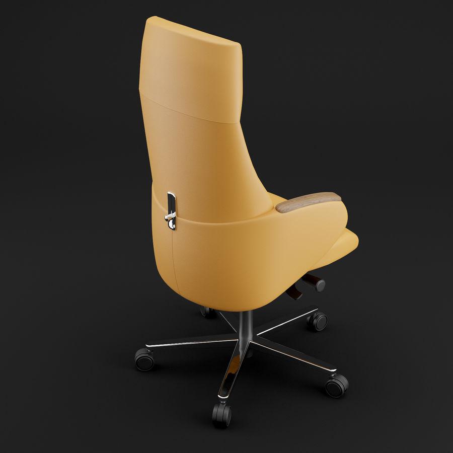 现代皮革办公椅 royalty-free 3d model - Preview no. 13