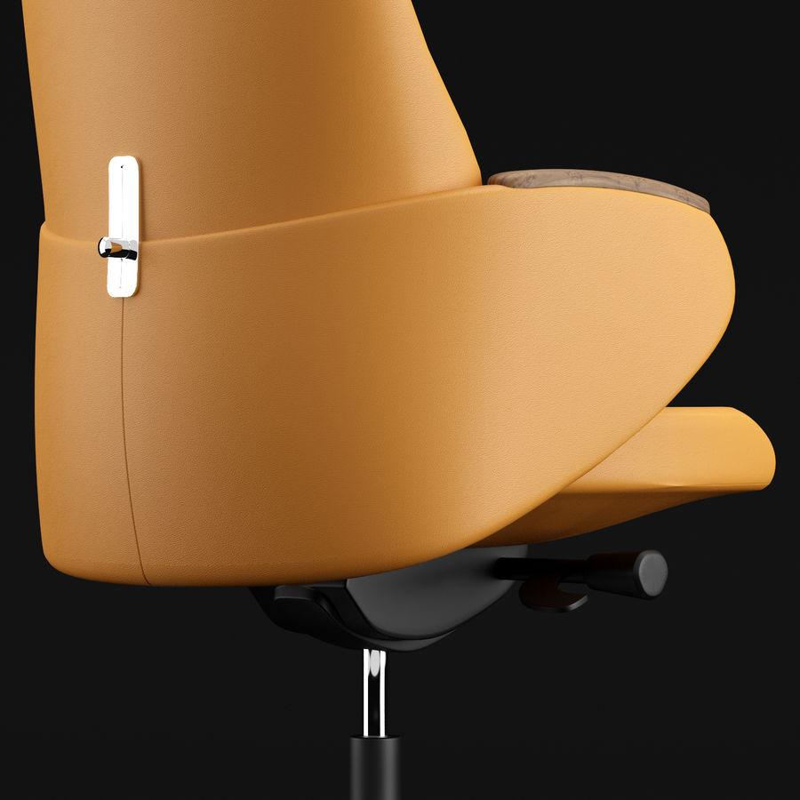 现代皮革办公椅 royalty-free 3d model - Preview no. 14