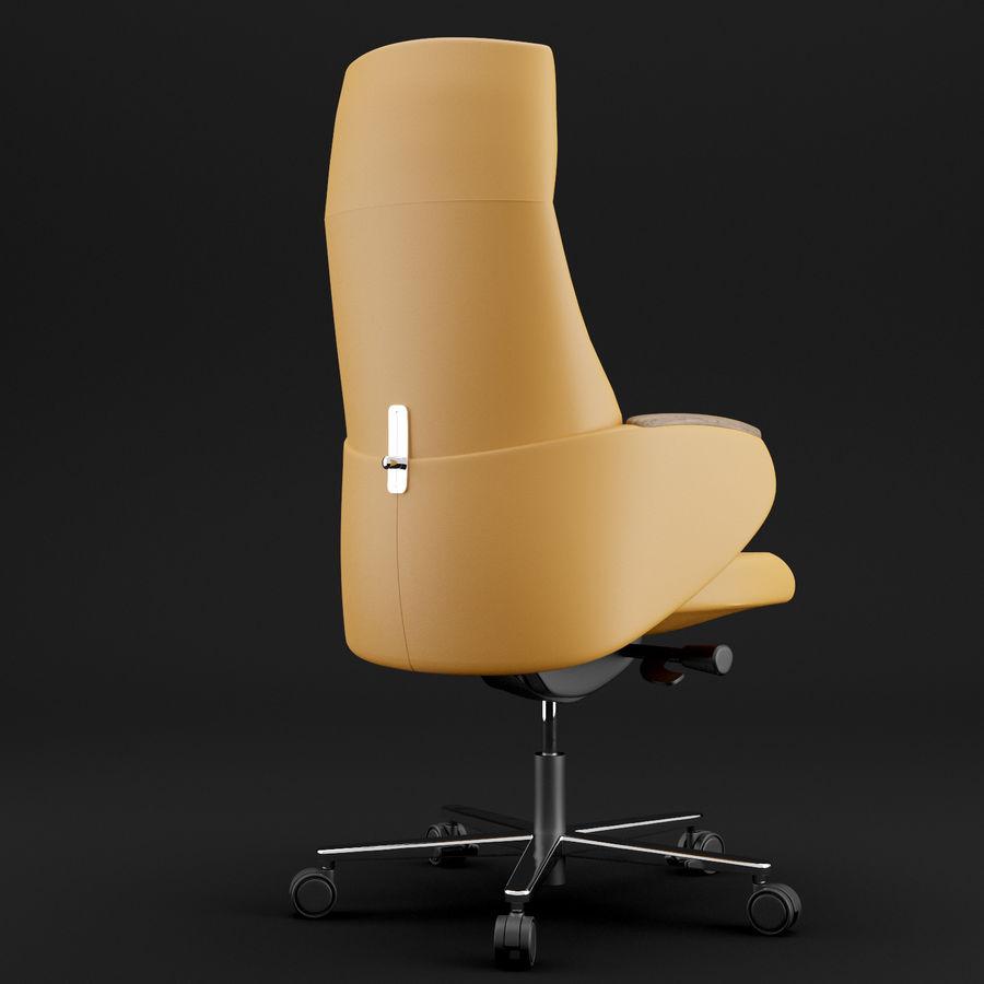 现代皮革办公椅 royalty-free 3d model - Preview no. 9