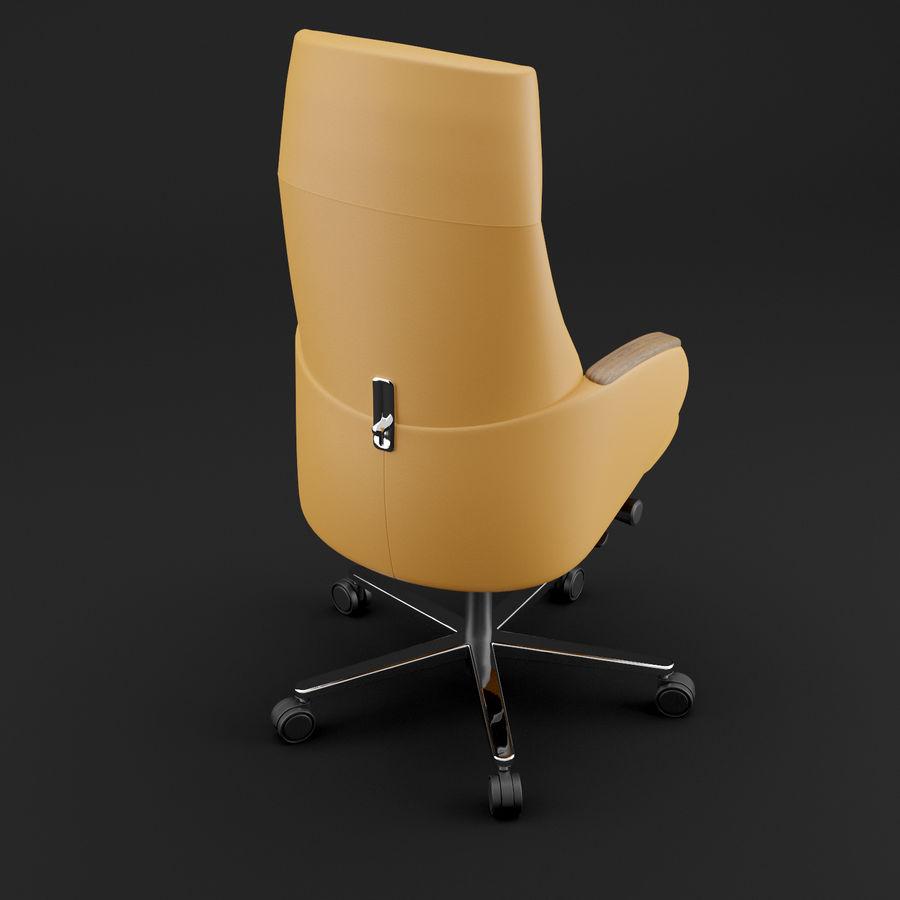 现代皮革办公椅 royalty-free 3d model - Preview no. 11