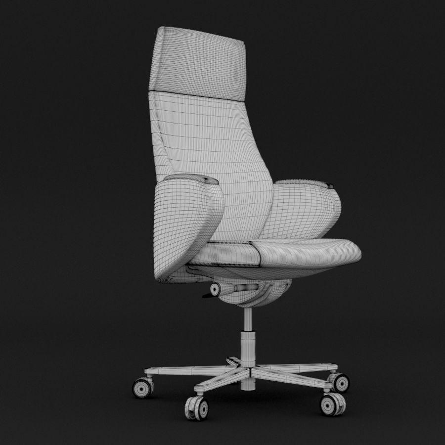 现代皮革办公椅 royalty-free 3d model - Preview no. 2