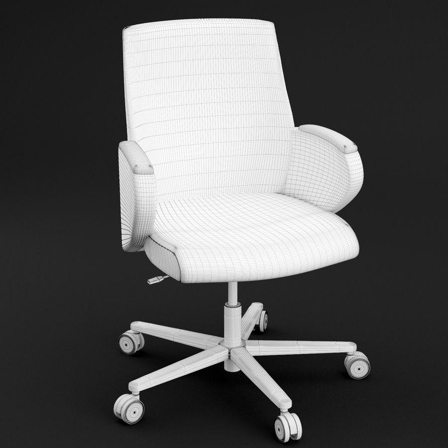 Nowoczesne skórzane krzesło biurowe 2 royalty-free 3d model - Preview no. 6