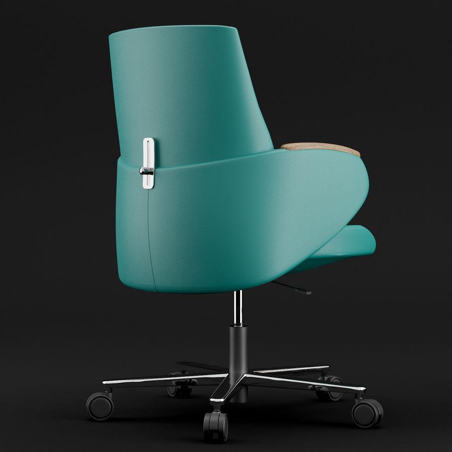 Nowoczesne skórzane krzesło biurowe 2 royalty-free 3d model - Preview no. 9