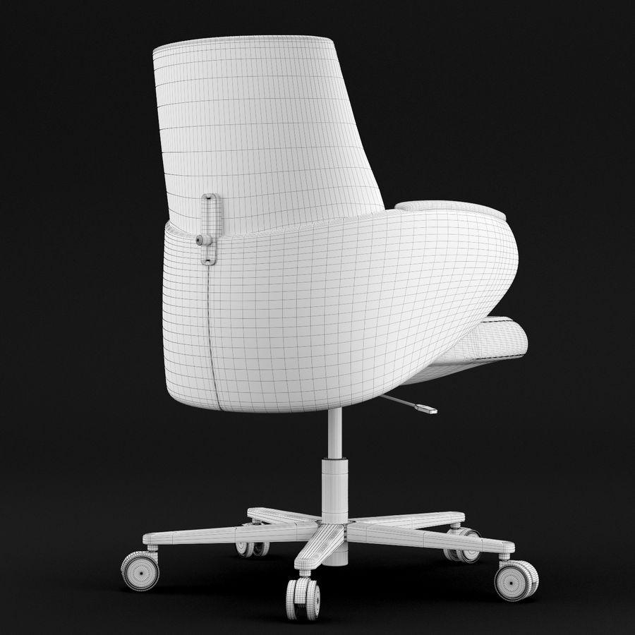 Nowoczesne skórzane krzesło biurowe 2 royalty-free 3d model - Preview no. 10