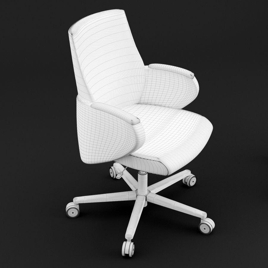 Nowoczesne skórzane krzesło biurowe 2 royalty-free 3d model - Preview no. 4