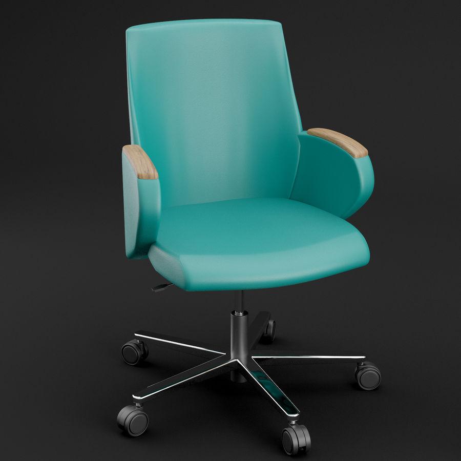Nowoczesne skórzane krzesło biurowe 2 royalty-free 3d model - Preview no. 5