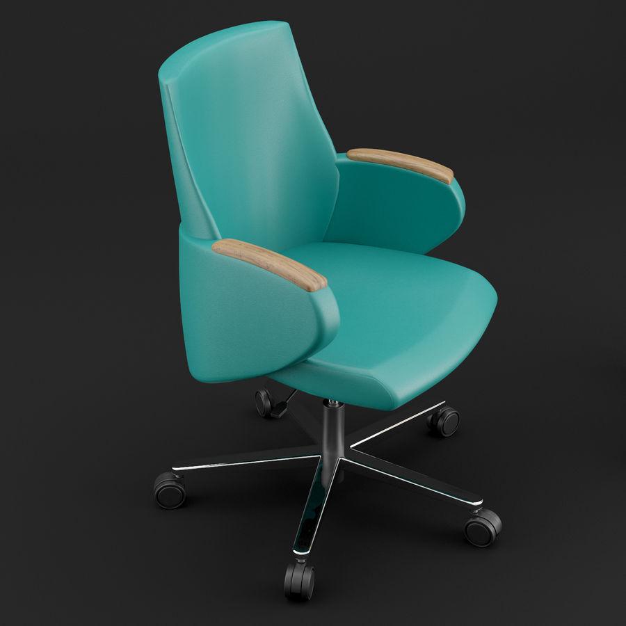 Nowoczesne skórzane krzesło biurowe 2 royalty-free 3d model - Preview no. 3