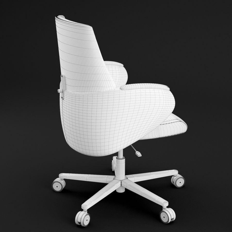 Nowoczesne skórzane krzesło biurowe 2 royalty-free 3d model - Preview no. 14