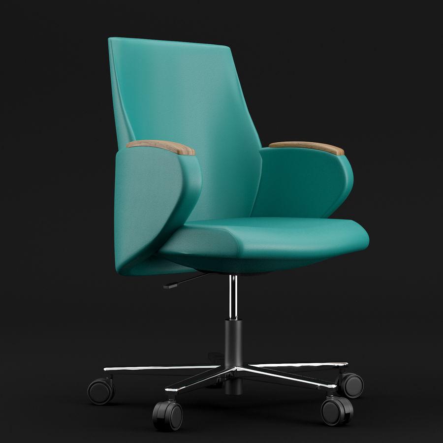 Nowoczesne skórzane krzesło biurowe 2 royalty-free 3d model - Preview no. 1