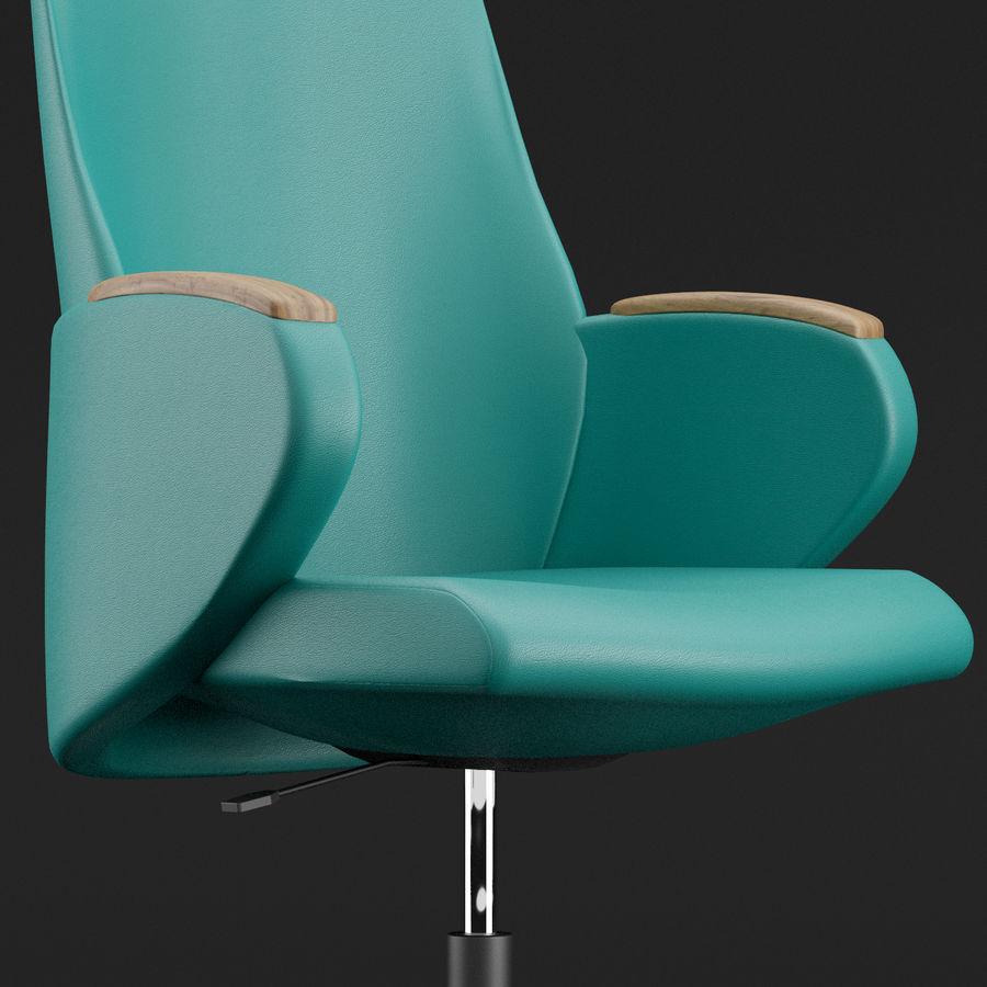 Nowoczesne skórzane krzesło biurowe 2 royalty-free 3d model - Preview no. 7