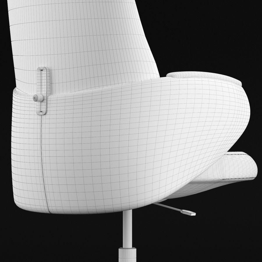 Nowoczesne skórzane krzesło biurowe 2 royalty-free 3d model - Preview no. 16