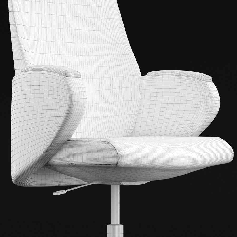 Nowoczesne skórzane krzesło biurowe 2 royalty-free 3d model - Preview no. 8