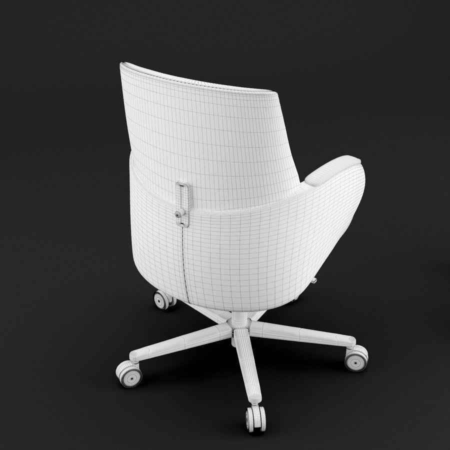 Nowoczesne skórzane krzesło biurowe 2 royalty-free 3d model - Preview no. 12